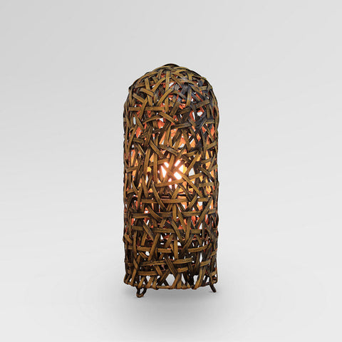 Lamp Metal Wicker Brown (21 x 21 x 50 cm) by Shine Inline-Universal Store London™