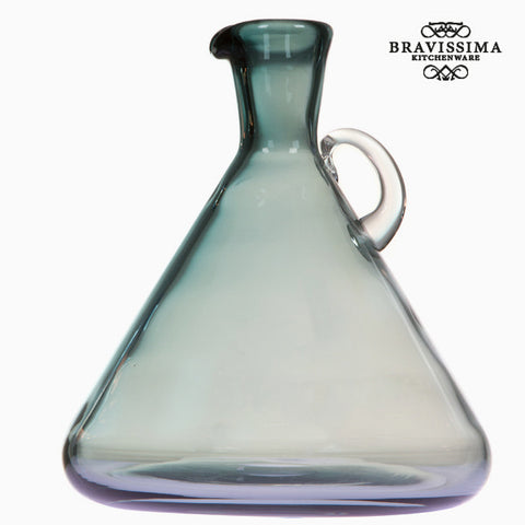 Image of Blue glass jar with handle by Bravissima Kitchen-Universal Store London™