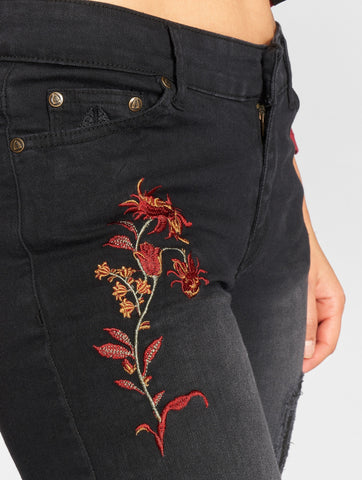 Image of Just Rhyse / Skinny Jeans Flora in black-Universal Store London™