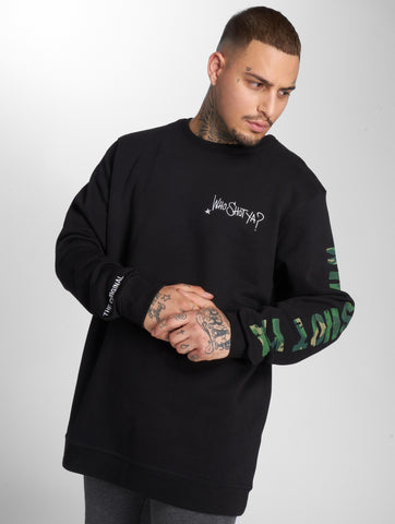 Image of Who Shot Ya? / Jumper Camou Funk in black-Universal Store London™