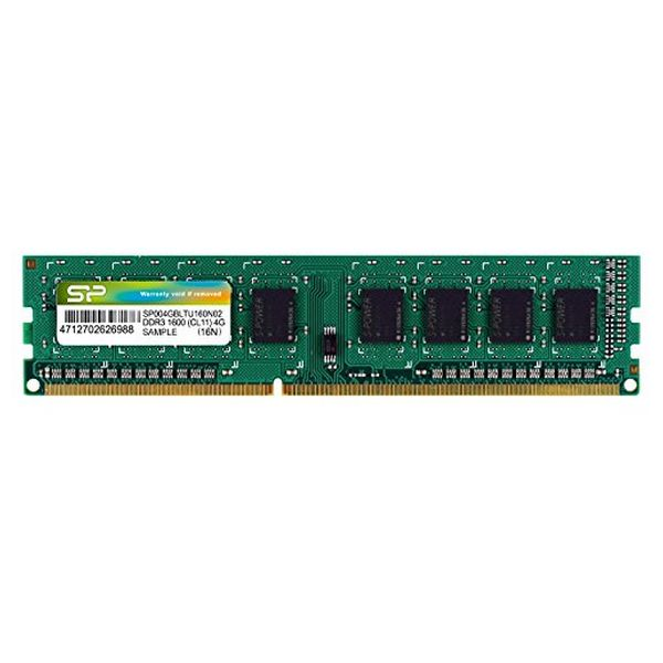 RAM Memory Silicon Power SP004GBLTU160N02 DDR3 240-pin DIMM 4 GB 1600 Mhz-Universal Store London™