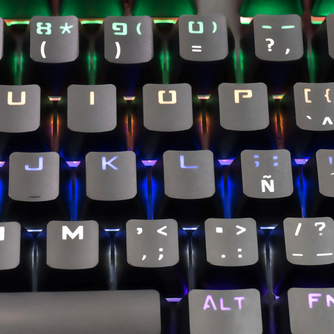 Gaming Keyboard Tacens MK4B USB RGB SWITCH Blue-Universal Store London™