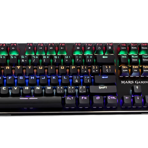 Gaming Keyboard Tacens MK4R USB RGB SWITCH Black Red-Universal Store London™