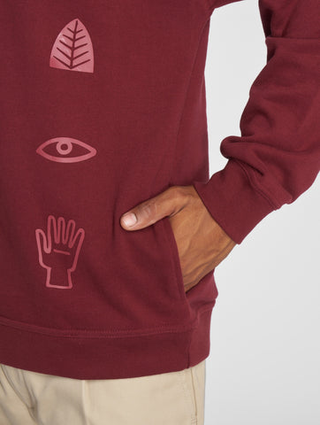 Image of Just Rhyse / Hoodie Culpina in red-Universal Store London™