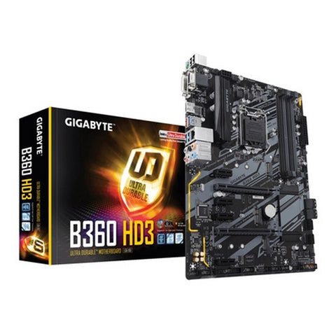Image of Motherboard Gigabyte GA-B360 HD3 ATX DDR4-Universal Store London™