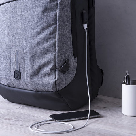 Rucksack with Power Bank and Tablet and Laptop Compartment 8000 mAh 145971-Universal Store London™