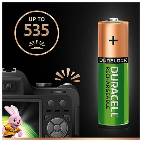 Rechargeable Batteries DURACELL AA NiMh 2400 mAh (4 pcs)-Universal Store London™