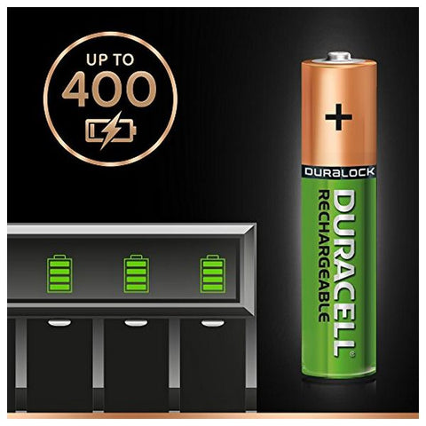 Rechargeable Batteries DURACELL DURDLLR03P4B HR03 AAA 800 mAh (4 pcs)-Universal Store London™