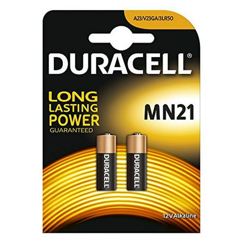 Alkaline Batteries DURACELL Security DRB212 MN21 12V 1.5W (2 pcs)-Universal Store London™