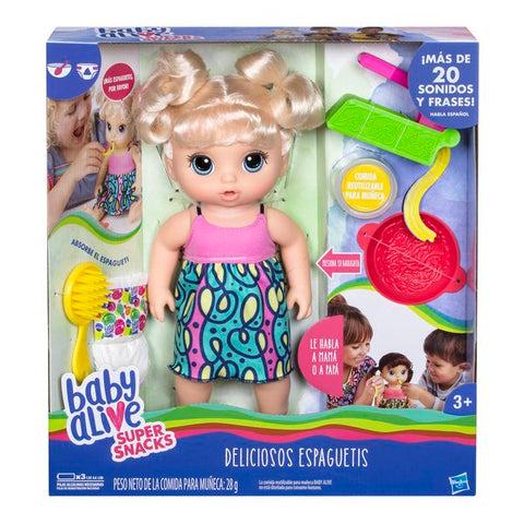 Baby Alive Super Snacks Snackin' Noodles Baby (Blonde) Hasbro-Universal Store London™
