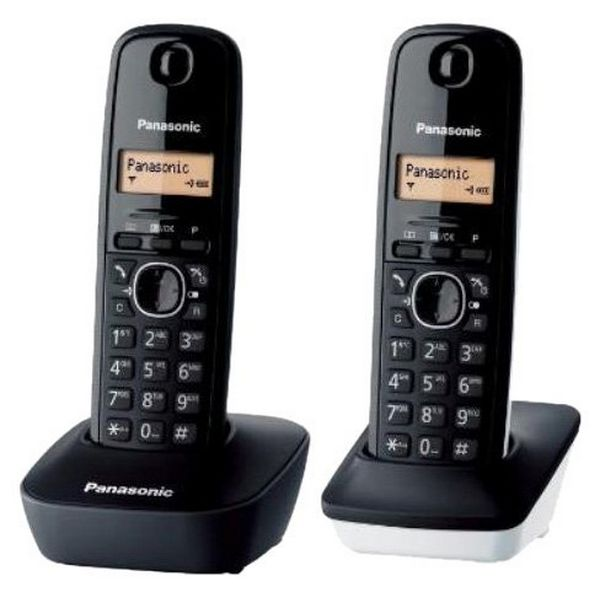 Wireless Phone Panasonic KX-TG1612SP1 Black White (2 pcs)-Universal Store London™