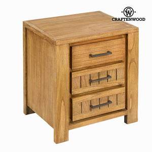 Nightstand Mindi wood (50 x 38 x 58 cm) - Square Collection by Craftenwood-Universal Store London™
