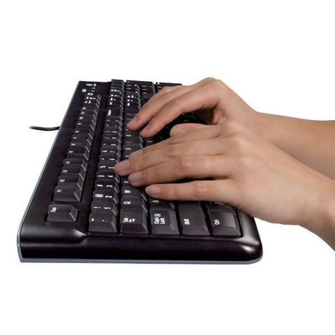 Image of Keyboard and Optical Mouse Logitech 920-002550 1000 dpi USB Black-Universal Store London™