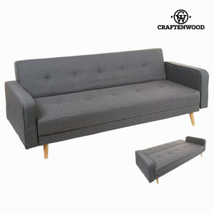 Sofabed Synthetic fabric Grey - Love Sixty Collection by Craftenwood-Universal Store London™