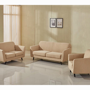 3-Seater Sofa Beige (193 x 83 x 86 cm) - Love Sixty Collection by Craftenwood