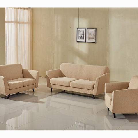 3-Seater Sofa Beige (193 x 83 x 86 cm) - Love Sixty Collection by Craftenwood-Universal Store London™