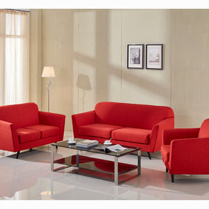 3-Seater Sofa Red (193 x 83 x 86 cm) - Love Sixty Collection by Craftenwood