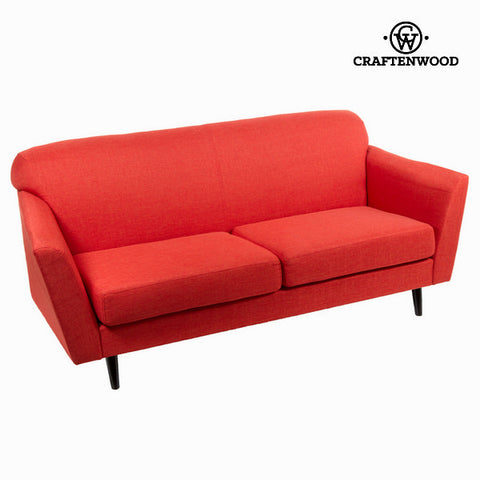 3-Seater Sofa Red (193 x 83 x 86 cm) - Love Sixty Collection by Craftenwood-Universal Store London™