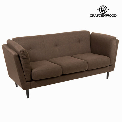 3-Seater Sofa Brown (196 x 83 x 42 cm) - Love Sixty Collection by Craftenwood-Universal Store London™