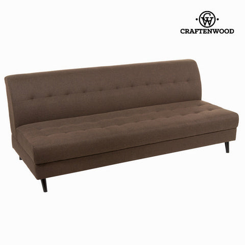 3-Seater Sofa Brown (197 x 88 x 81 cm) - Love Sixty Collection by Craftenwood-Universal Store London™