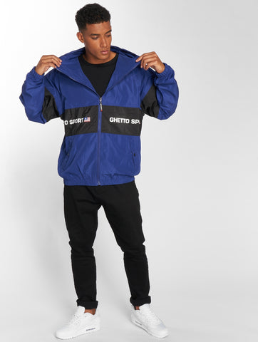 Maskulin / Lightweight Jacket Ghetto in blue-Universal Store London™