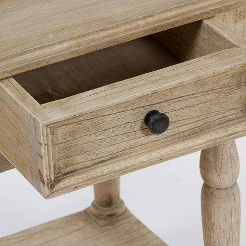Image of Table 1 drawer and 1 shelf - Pure Life Collection by Craftenwood-Universal Store London™