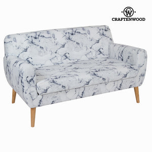 2-Seater Sofa Rubber wood (144 x 82 x 81 cm) by Craftenwood-Universal Store London™