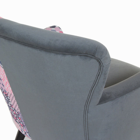 Image of Patchwork/grey armchair by Craftenwood-Universal Store London™
