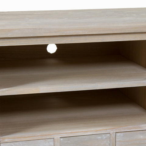 TV Table Pine Mdf Paolownia wood (150 x 50 x 66 cm) - Natural Collection by Craftenwood-Universal Store London™