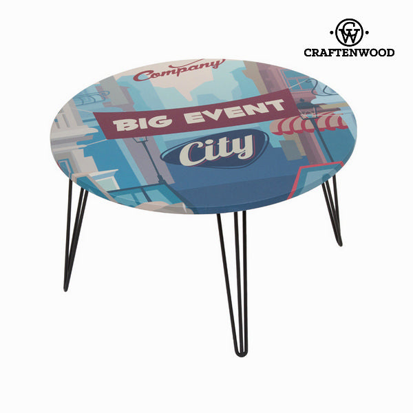Blue round centre table by Craftenwood-Universal Store London™
