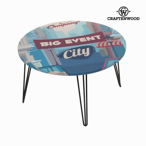 Image of Blue round centre table by Craftenwood-Universal Store London™