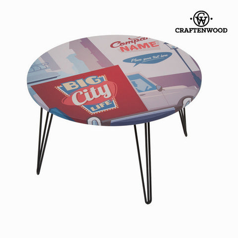 Round centre table with city design by Craftenwood-Universal Store London™