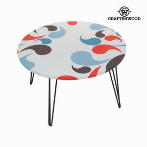 Round centre table with comma design by Craftenwood-Universal Store London™