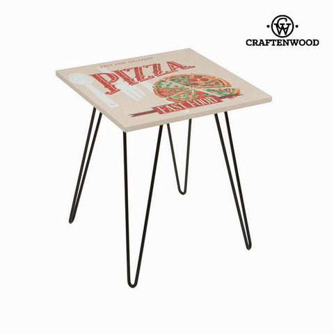 Square table with pizza design beige by Craftenwood-Universal Store London™