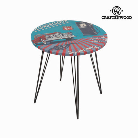 Round centre table with route 66 design by Craftenwood-Universal Store London™