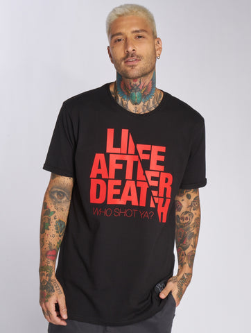 Who Shot Ya? / T-Shirt Life after death in black-Universal Store London™