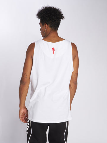 Image of Who Shot Ya? / Tank Tops Grunge in white-Universal Store London™