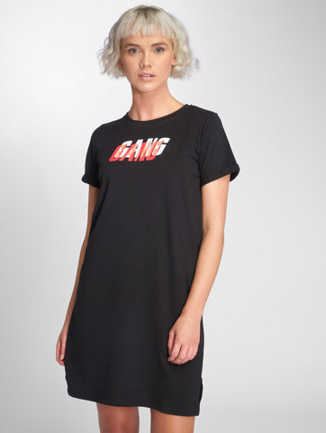Image of Who Shot Ya? / Dress Gang in black-Universal Store London™