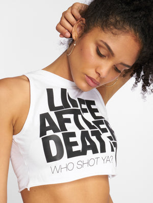 Who Shot Ya? / Tank Tops Life after death in white-Universal Store London™