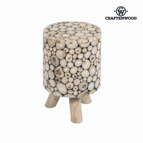 Image of Trunk Stool with Legs Wood - Autumn Collection by Craftenwood-Universal Store London™