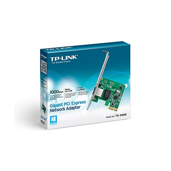 TP-LINK TG-3468 REd card Gigabit RJ45 PCIe 32b-Universal Store London™