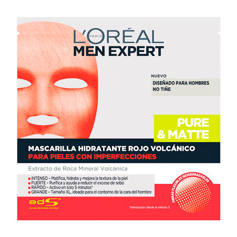 Facial Mask Peel Off Men Expert L'Oreal Make Up (1 uds)-Universal Store London™