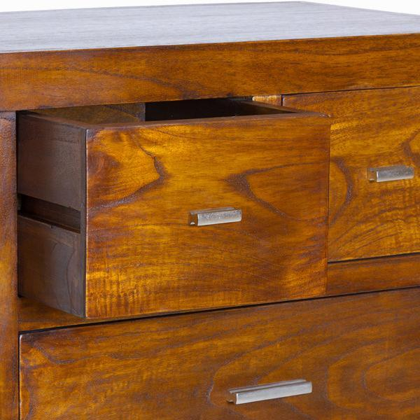 7-draw chest - Chocolate Collection by Craften Wood-Universal Store London™
