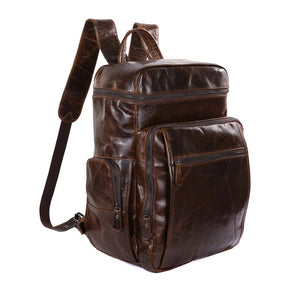 'Noah' Leather Backpack - Brown-Universal Store London™