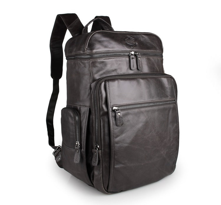'Noah' Leather Backpack - Dark Grey-Universal Store London™