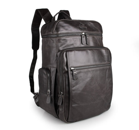 Image of 'Noah' Leather Backpack - Dark Grey-Universal Store London™
