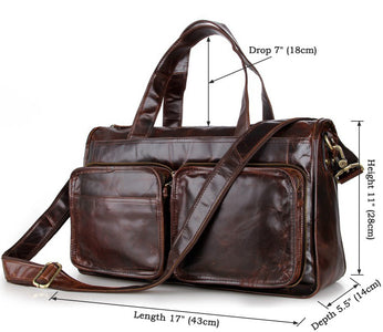 'Trapani' Men's Vintage Italian Leather Laptop & Messenger Bag - Oxblood-Universal Store London™