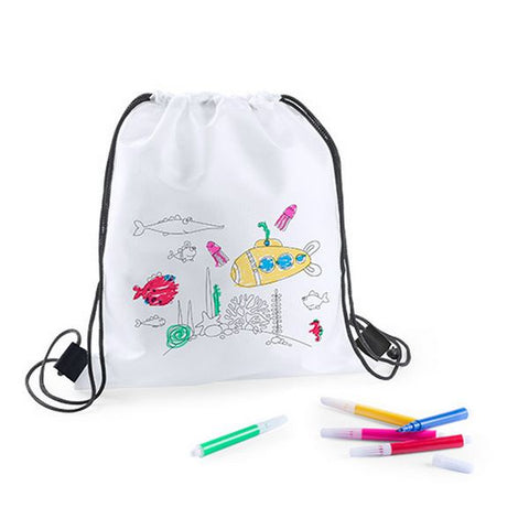 Rucksack to Colour In with Felt Tip Pens 144893-Universal Store London™