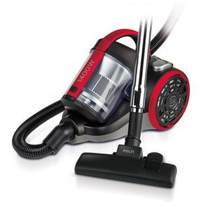 Bagless Vacuum Cleaner POLTI 800W 2 L Black Red-Universal Store London™