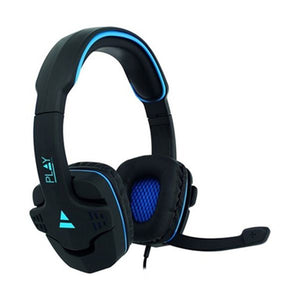 Gaming Headset with Microphone Ewent PL3320 Black Blue-Universal Store London™